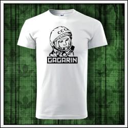 Unisex tricko Gagarin, prvý človek ktorý letel do vesmíru