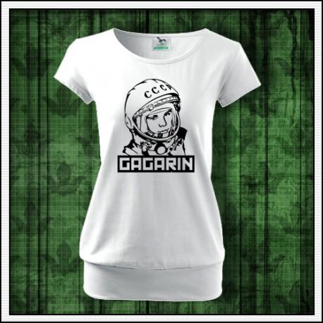 Dámske tričko s patentom Gagarin, ruský darček