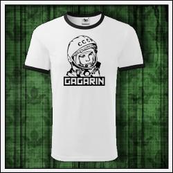 Unisex dvojfarebné tričká Gagarin