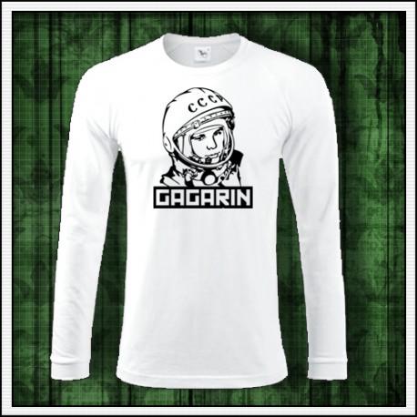 Pánske dlhorukávové tričko s potlačou Gagarin