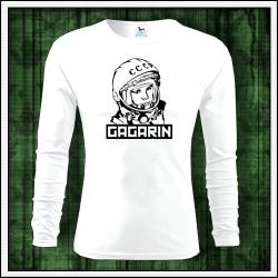 Panske tricko Gagarin prvy clovek vo vesmire