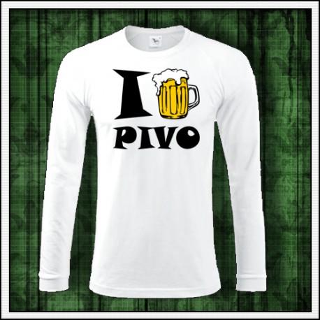 Vtipny darcek s motivom piva tricko I Love Pivo