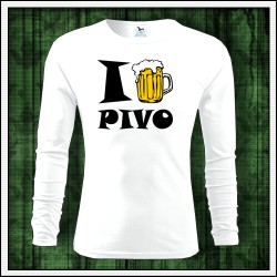 Vtipné pánske 160g. dlhorukávové tričká I Love Pivo