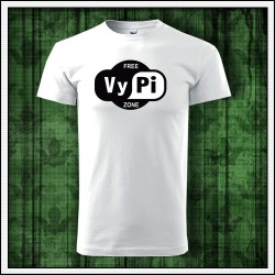 Vtipné unisex tričká Free VyPi Zone