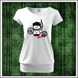Vtipné dámske tričká s patentom Gladiator