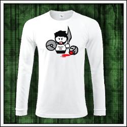 Vtipné pánske 180 g. dlhorukávové tričká Gladiator