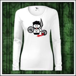 Vtipné dámske dlhorukávové tričká Gladiator