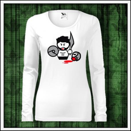 Vtipné dámske dlhorukávové tričko Gladiator, vianočný darček
