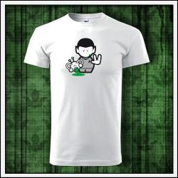 Vtipný darček, unisex tričko Spock