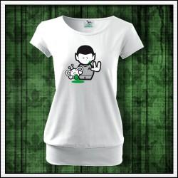 Vtipné dámske tričká s patentom Spock