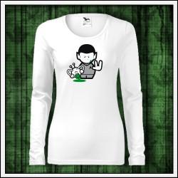 Vtipné dámske dlhorukávové tričká Spock