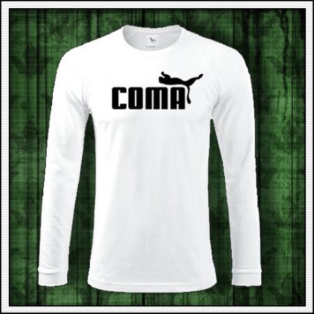 Vtipné pánske tričko s dlhým rukávom Coma
