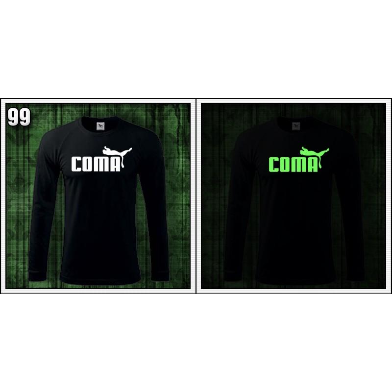 05d29947cead ... Vtipné pánske fosforové tričko s dlhým rukávom Coma