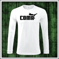 Vtipné pánske 160g. dlhorukávové tričká Coma