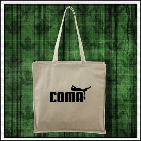 Vtipná prírodná taška Coma