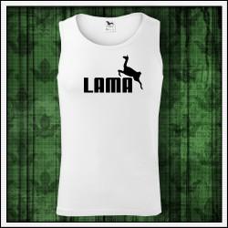 darček na vianoce vtipné pánske tielko s potlačou Lama