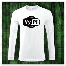 Vtipné pánske 180 g. dlhorukávové tričká Free VyPi Zone