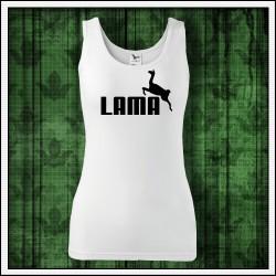 Vtipny darcek k narodeninam dámske tielko Lama