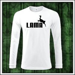 Vtipné pánske 180 g. dlhorukávové tričká Lama