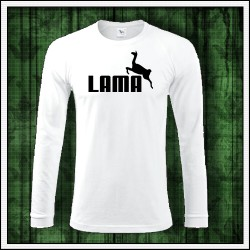 Vtipné pánske dlhorukávové tričko Lama