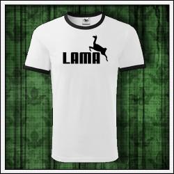 Vtipné unisex dvojfarebné tričko Lama