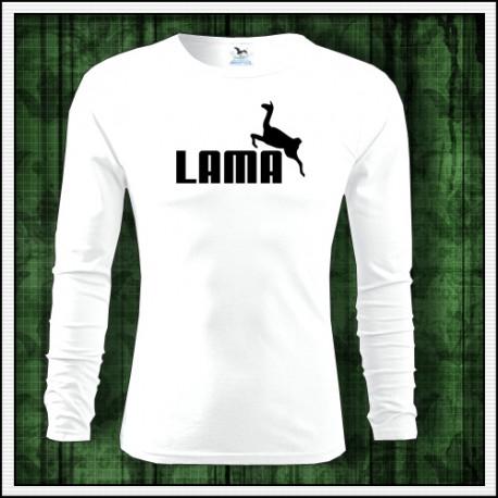 Vtipné pánske tričko Lama s dlhým rukávom