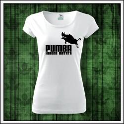 Vtipne damske tricko Pumba hakuna matata