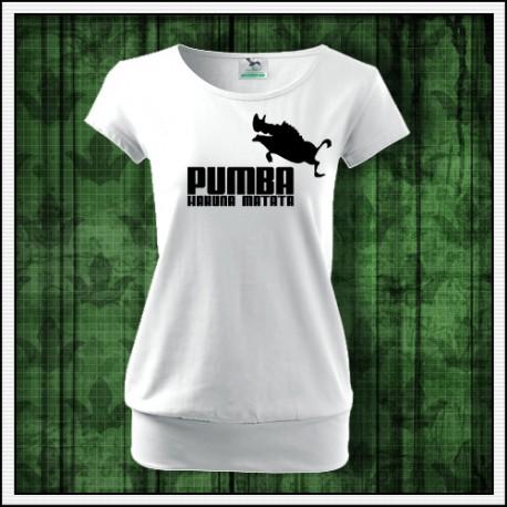 Vtipné dámske tričko s patentom Pumba hakuna matata