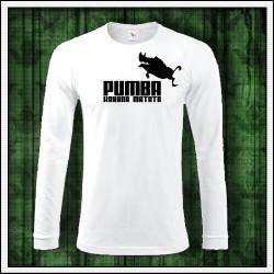 Vtipné pánske tričko s dlhým rukávom Pumba hakuna matata