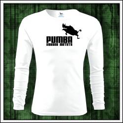 darček na Vianoce vtipné pánske dlhorukávové tričko Pumba hakuna matata