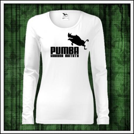 Vtipné dámske dlhorukávové tričko Pumba