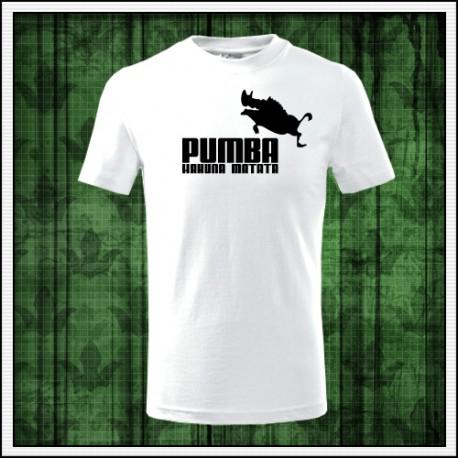 vianočný darček pre deti vtipné detské tričko Pumba hakuna matata