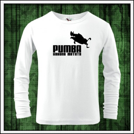 Vtipné detské tričko Pumba s dlhým rukávom