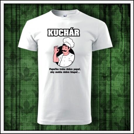 Vtipné unisex kuchárske tričko Kuchár