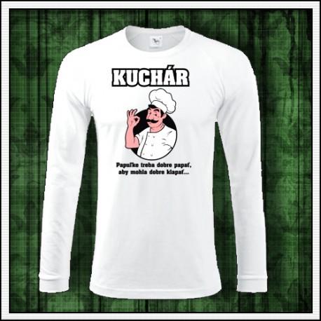 Vtipné pánske tričko s dlhým rukávom pre kuchára