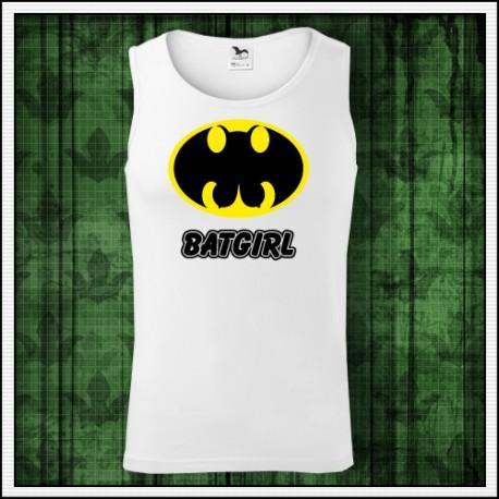 Vtipné pánske tielko Batgirl