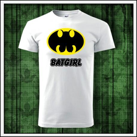 Vtipné unisex tričko Batgirl paródia batman