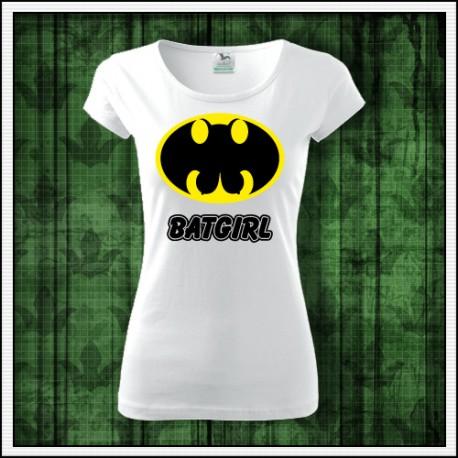 Vtipný darček dámske tričko Batgirl paródia batman