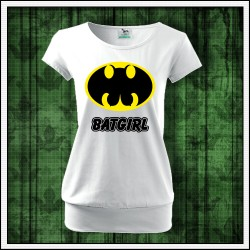 Vtipné dámske tričká s patentom Batgirl