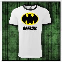 Vtipné unisex dvojfarebné tričká Batgirl