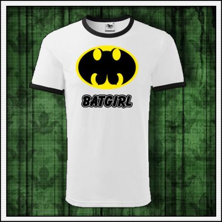 3cfeec5ed685 Vtipné dvojfarebné tričko Batgirl