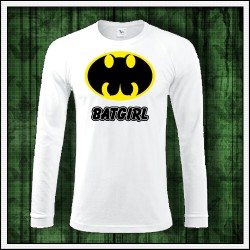 Vtipné pánske 180 g. dlhorukávové tričká Batgirl