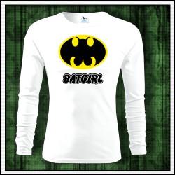 Vtipné pánske 160g. dlhorukávové tričká Batgirl