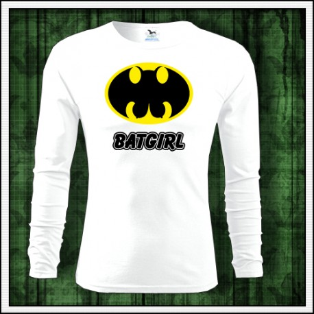 a73fd473fd21 Vtipne panske tricko s dlhym rukavom Batgirl