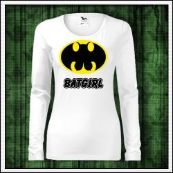 Vtipné dámske dlhorukávové tričká Batgirl