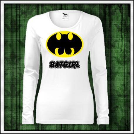 Vtipné dámske dlhorukávové tričko Batgirl