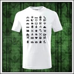 Vtipné detské tričká Icon Speak