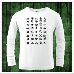 Vtipné detské 160g. dlhorukávové tričká Icon Speak