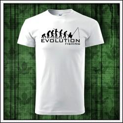 Vtipné unisex tričká Evolution Fishing