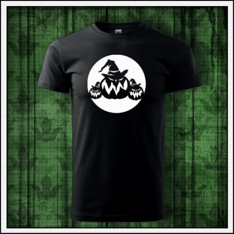 Unisex fosforové tričko Tekvice